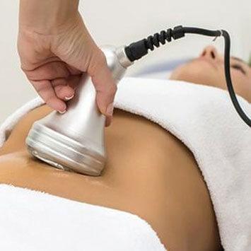 Cavitación electrónica en abdomen