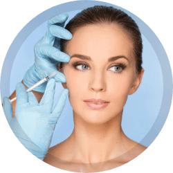 Aplicación de botox facial y capilar
