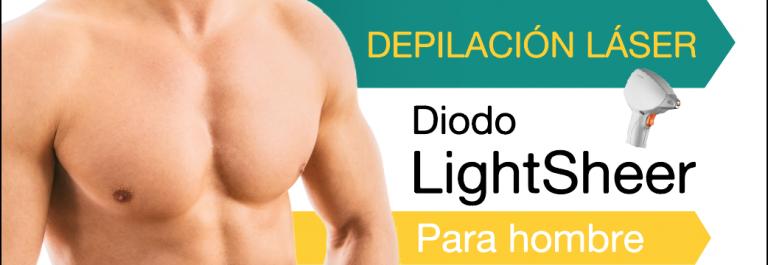 Depilación láser diodo lightsheer para hombres en CDMX